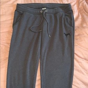 PINK grey sweatpants with pockets!
